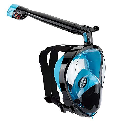 Masque complet anti-buée pour masque et tuba avec masque de plongée avec plongeur amovible à 360 ° et support de caméra amovible pour hommes