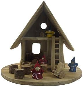 Lichee Toys 105006-Marfil Casa, casa de muñecas para niños pequeños