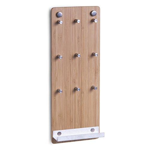 zeller-present-13878-porte-clefs-en-bambou-acier-inoxydable-15-x-40-cm