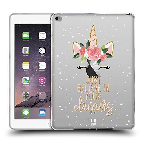 Head Case Designs Träume Einhorn-Blumen Soft Gel Hülle für iPad Air 2 (2014) (2 Ipad Cellular 64 Air)