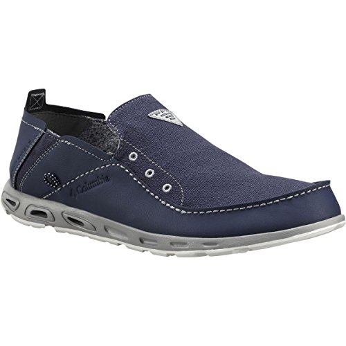 Columbia Mens Bahama Vent PFG Slip-On Boat Shoes Nocturnal/Columbia Grey