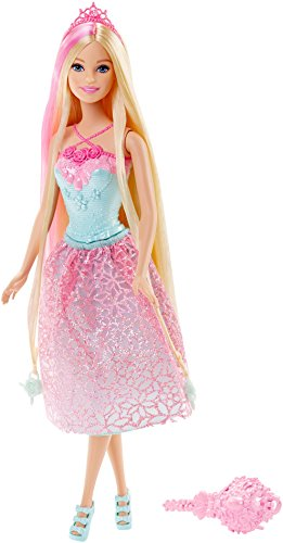 Barbie - DKB60 - Poupée - Princesse Chevelure Magique Blond