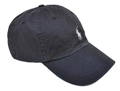 Ralph Lauren Polo Baseballkappe mit Pony - Dunkelgrau - Neue Kollektion