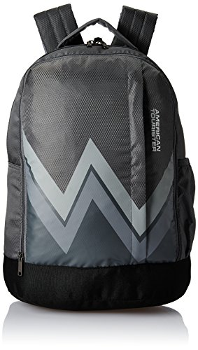 American Tourister 28 Ltrs Grey Casual Backpack (AMT TWIST BACKPACK 02 – GREY)