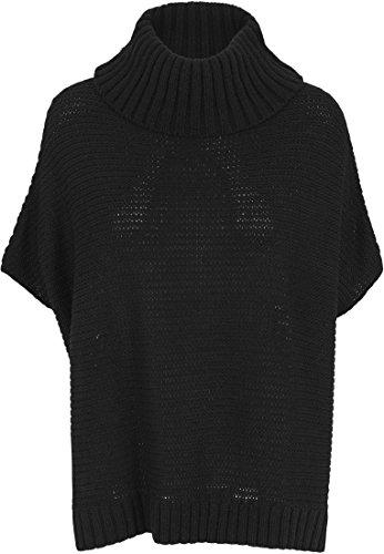 Urban Classics Jumpsuite Knitted Poncho - peto premamá Mujer, Negro (Schwarz), Large (Talla del fabricante: Large)