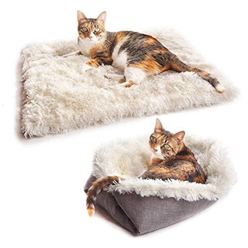 Katzenbett Waschbare Plüsch Weich Runden Winter Katze Schlafen Bett Katzensofa Klein Hund Bett Haustierbett katzenbettchen Betten für Katzen