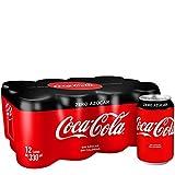 Coca-Cola Zero Zero Sin Cafeína y Sin Calorías - Lata 330 ml (Pack de 12)
