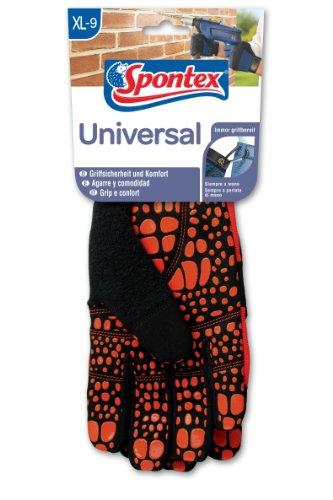Spontex gants universels avec poignée haute sécurité et mousqueton, 1 paire 9-9,5