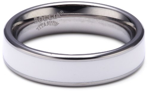 Boccia Damen-Ring Titan weiß Gr.48 0123-0648