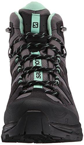 Salomon Quest Prime, Chaussures de Randonnée Hautes Femme Noir (Detroit/Asphalt/Lucite Green)