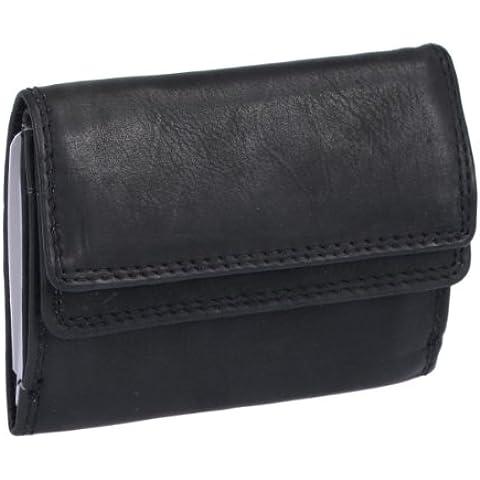 Portafoglio piccolo LEAS, Vera Pelle, nero - ''LEAS Mini-Edition''