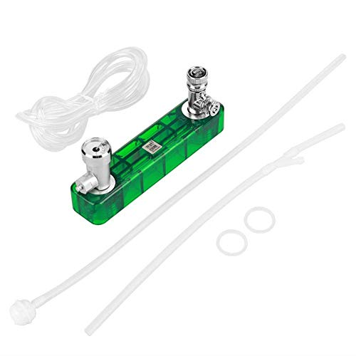 Fdit Generador de CO2 Sistema Kit Profesional DIY Generador Juego efectiva Plantas Cera Extremo D501 Válvula Gauge regulador para Plantas Acuario Mascotas