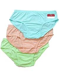 Pride Apparel Ladies Panties Cotton Solid Color 3 Pack