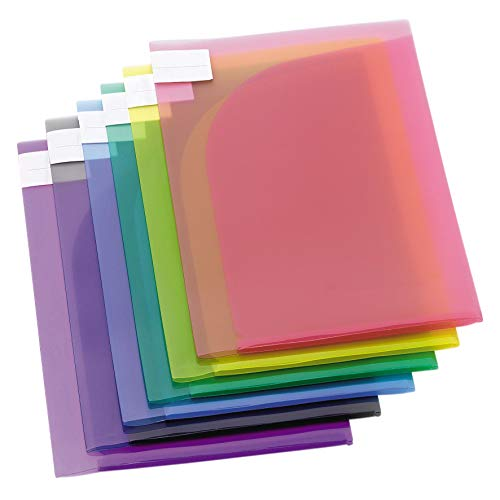Tarifold 12 Pochettes Porte-documents Double De Présentation Format A4 ou A3-6 couleurs x2 (Bleu, Violet, Vert, Jaune, Rose, Transparent) - 511009