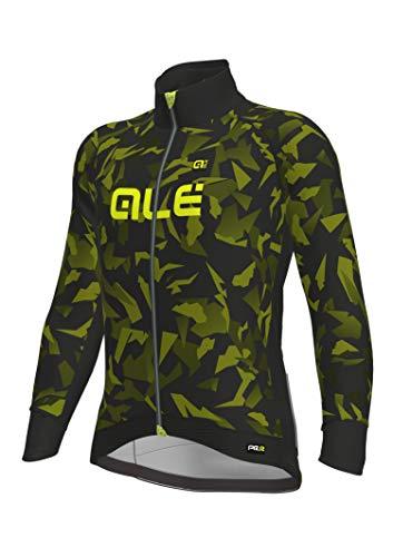Alé PRR Glass Chaqueta Racing para Hombre, Verde/Negro, 170/179