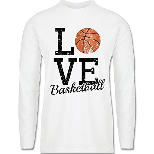 Basketball - Love Basketball - Longsleeve / langärmeliges T-Shirt für Herren Weiß
