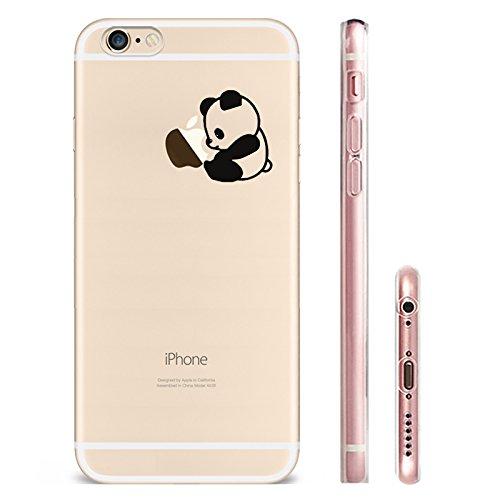 IPHONE SE 5 5S Hülle Traumfänger Ballon Karikatur Panda TPU Silikon Schutzhülle Handyhülle Case - Klar Transparent Durchsichtig Clear Case für iPhone 5 /5S/SE panda1