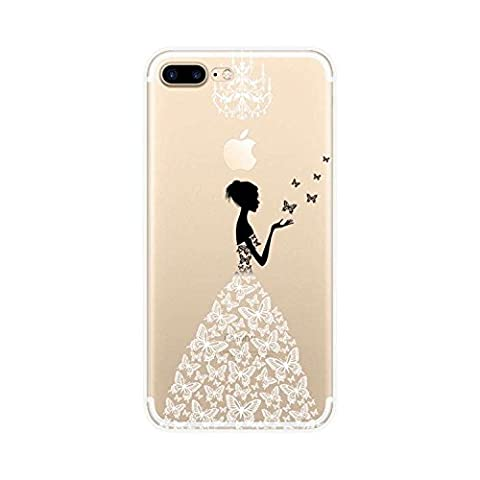 Teryei iPhone 7 Plus pretty girl Clear TPU Bumper Protective Anti-Scratch Shockproof Thin Durable Cover for Apple iPhone 7 Plus (5.5 Inch)-Beauty (Pattern