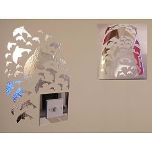 miroir dauphin stickers muraux 1 feuille de format a4 cuisine maison. Black Bedroom Furniture Sets. Home Design Ideas