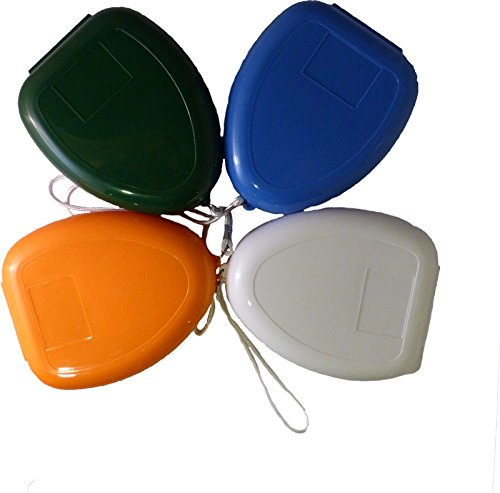 10 x CPR Beatmungsmaske mit aufgedruckter Ersthelfer-Anleitung Orange Taschenmaske