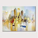 HBHBS Dipinta a Mano Pittura Dipinti Ad Olio Quadri su Tela Moderni Quadri Impressionisti Paesaggi Ad Olio Decorazioni per La Casa50X70cm (19X27in)