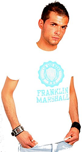 Franklin-Marshall-Mens-T-Shirt-white-white