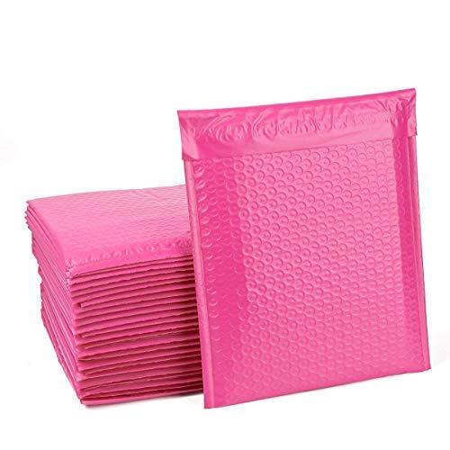 Colorato stagnola imbottito peal e chiudi bolle mailing postale 180x260mm sacchetti regalo busta - rosa metallico, 25