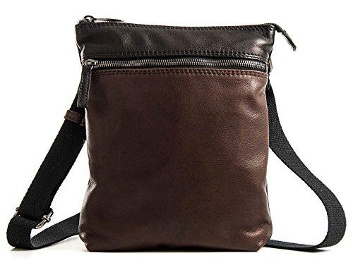 Mattia Testa Moro - Borsello schermato da uomo in vera pelle bicolor - Passione Bags - Made in Italy