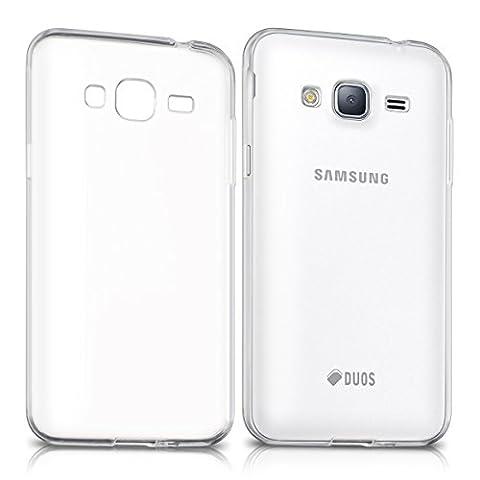 kwmobile Hülle für Samsung Galaxy J3 (2016) DUOS - TPU Silikon Backcover Case Handy Schutzhülle - Cover klar (Duo Handys)