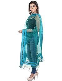 DISHA Tissue Mirror Work Party Wear Dupatta Stole - B077T5P9BB