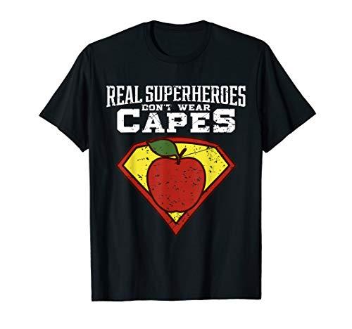 Wirkliche Superhelden tragen kein Umhang-Lehrer-Hemd und unt