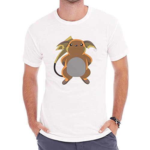 Pokemon Raichu Electric Pikachu Big Dark Herren T-Shirt Weiß