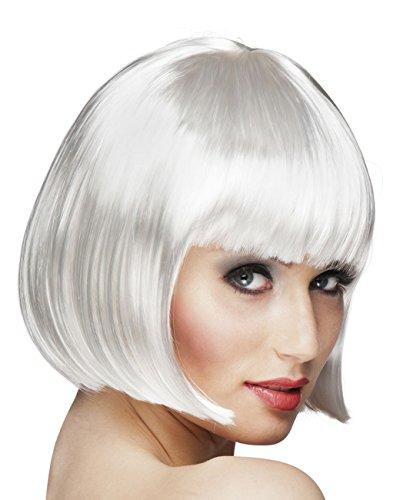 Boland 85887 - parrucca cabaret caschetto, bianco