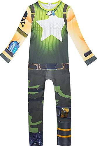RedJade Kinder Mädchen Elitesoldat Elitesoldat Jumpsuit Bodysuit Catsuit Overall Halloween Cosplay Kostüm Grün 150 (Halloween-kostüme Bodysuit Grünen)