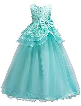 9e387798ea0c WOLFTEETH Fiore Ragazze Abito Principessa Senza maniche Compleanno Festa  nozze Sera Vestito