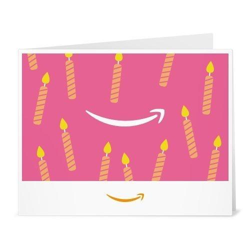 Amazon.de Gutschein zum Drucken (Geburtstagskerzen (pink))