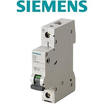 6/Miniatur Leitungsschutzschalter 6/KA 1/Pole b-6/a Siemens 5SL6106