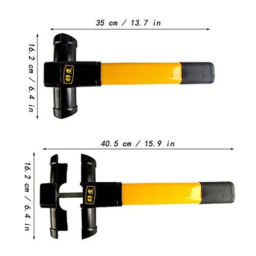 Vzer Antirobo Universal retr/áctil bloqueo de volante de coche con martillo para ventana y 3/llaves