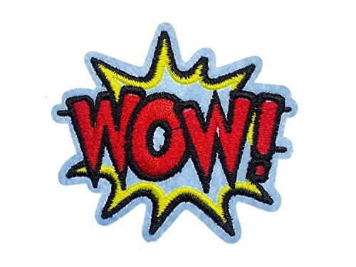 Pop Art Comics Kostüm - Miniblings Wow! Comic Sprechblase Bügelbild Aufnäher Aufbügler 8x10cm Pop-Art