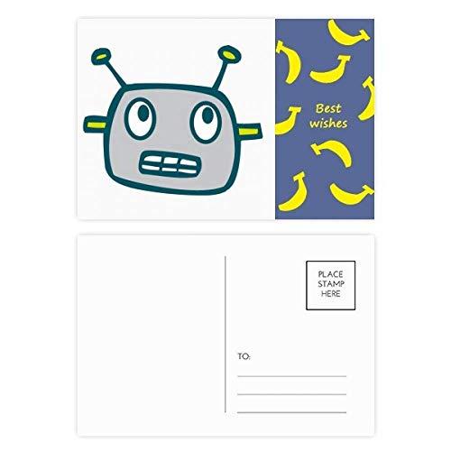 DIYthinker Universum Und Ausländischer grauer Roboter Banana Postkartenset dankt Karte Mailing Side 20pcs 5.7 Zoll x 3.8 Zoll Mehrfarbig - Ausländische Karte