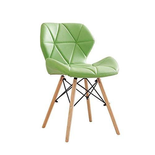 JF Stuhl/Retro Stuhl/Esszimmerstuhl Lounge Sessel/Holz und Leder Material 50cm * 38cm * 73cm Mehrfarbig (Farbe : H)