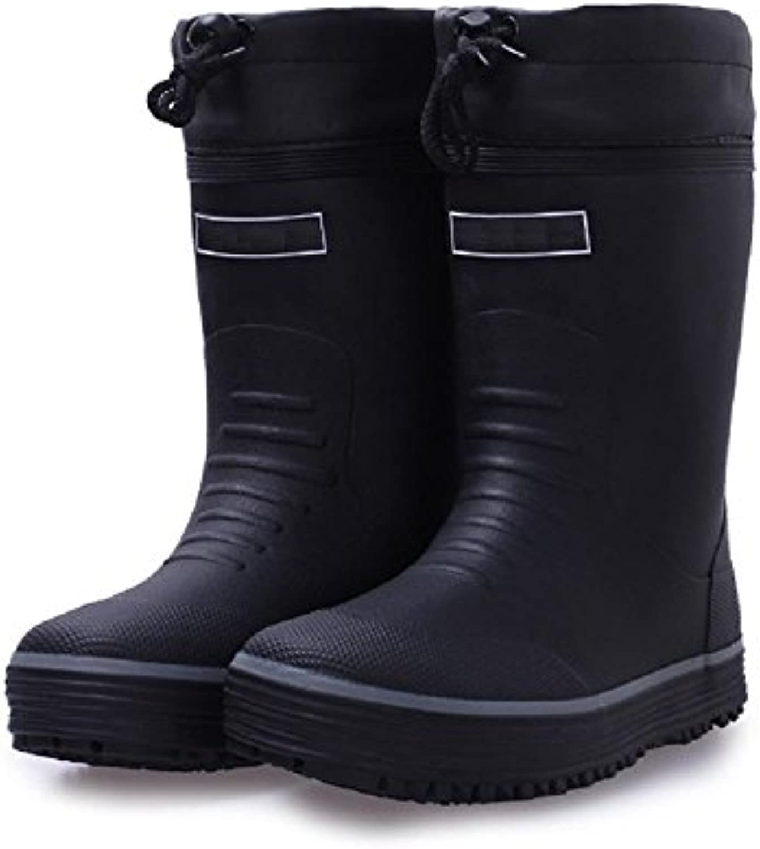Herbst und winter Männer Warm Regen Stiefel Angeln Kautschuk Regen SchuheHerbst winter Männer Stiefel Kautschuk