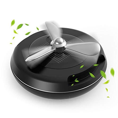Solare Deodorante per Auto -  Alsterplus Solare Rotazione Aromaterapia Diffusore per Auto con 2 Aroma + 1 DIY pads, per Auto, VAN, SUV, Camion(Nero)