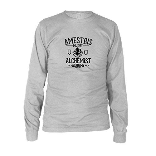 Alchemist Academy - Herren Langarm T-Shirt, Größe: XXL, Farbe: weiß