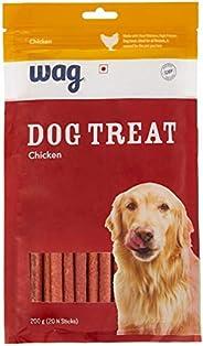Amazon Brand – Wag Dog Treat, Chicken, 200 gram, 20 pieces