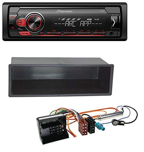 caraudio24 Pioneer MVH-S100UB USB AUX MP3 1DIN Autoradio für Peugeot 207 307 Expert Partner