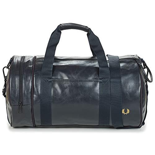 Fred Perry Tonal Barrel Bag Sacs de Sport Hommes Marine - Unique - Sacs de Sport