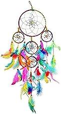 SGN Dream Catcher for Car & Wall Hanging Attract Positive Dreams Decorative Showpiece - 55 cm(Microfibre, Multicolor)