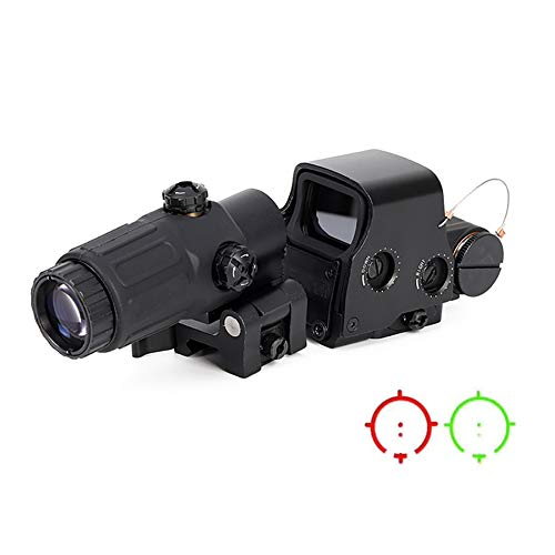 Laecabv 558 with G33 Optical Sight Scope 3X Zoom Magnification Holographic View Tactical telescopes Red Dot Green Point STS Mount gz20113