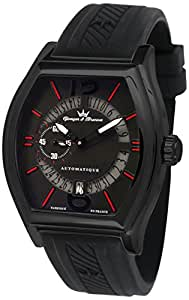 Yonger & Bresson - YBH 8342-13 - Chenonceau - Montre Homme - Automatique Analogique - Cadran Noir - Bracelet Silicone Noir